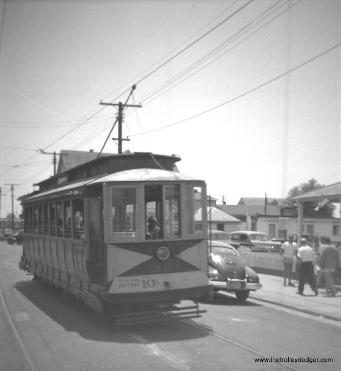 Car 25 at Wildwood in the mid-1940s.