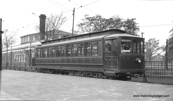 Car 8, signed for Dauphin Street, is at 44th and Parkside on October 13, 1935.