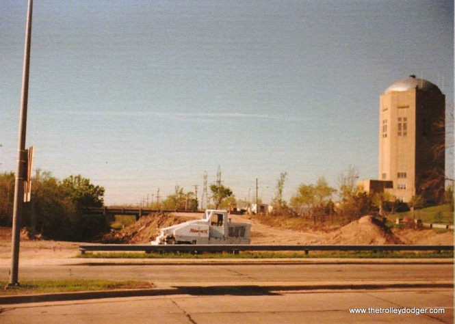 8G On May 14th, 1988 the cut was filled in and bridge at Norwich Ave. removed. View looks south from Howard Ave.
