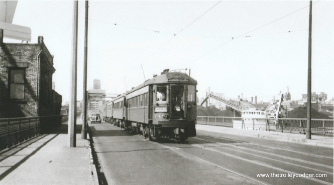 1A NSL 748 sb. on 6th St. Viaduct at Canal St. 8-12-51 Don Ross.