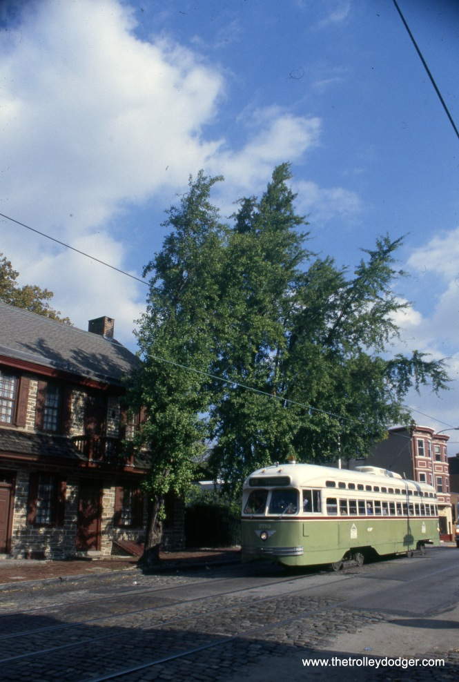 SEPTA PCC 2785 on the truncated route 23 in November 2002.