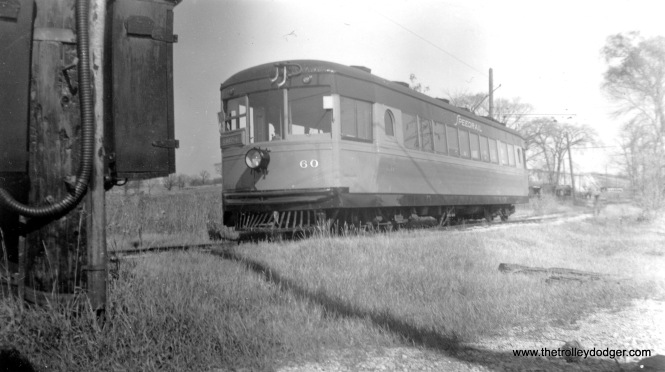 Speedrail car 60 at the Waukesha Quarry, date unknown but circa 1949-51.