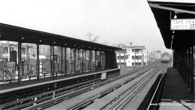 "61st Street on the South Side ""L"", looking north on November 13, 1944."