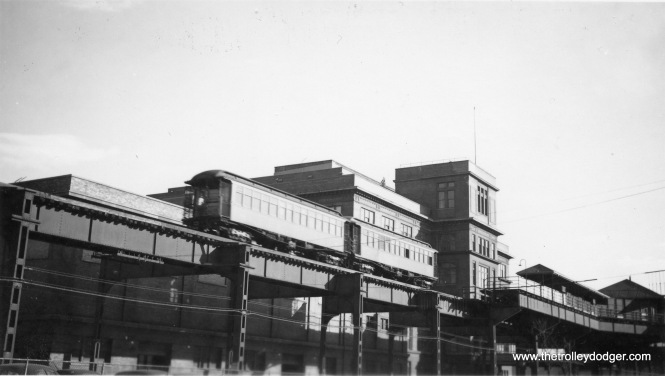 "Michael Franklin has identified this picture as showing the Armour station on the Stock Yards branch. He notes, ""(the) clue was a station on one side but not one on the other."" See below for another view of the same station."