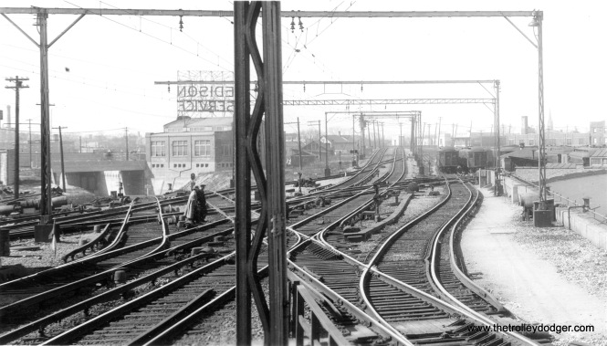 "The view looking north from the Howard ""L"" station. We ran a very similar picture to this in a previous post Chicago Rapid Transit Photos, Part Eight (November 16, 2016), where George Trapp suggested in was taken in the late 1920s or 1930s. This photo is dated December 17, 1930."