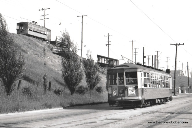 6A TM 878 nb. On Rt. 16 and NSL Birney at 6th & Oklahoma. Rt. 16 converted to buses in June 1947. Bob Genack