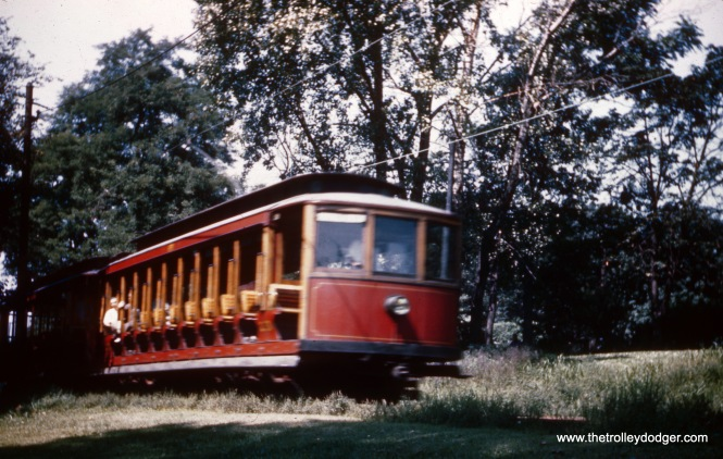 The Fairmount Park trolley, just prior to abandonment in 1946.