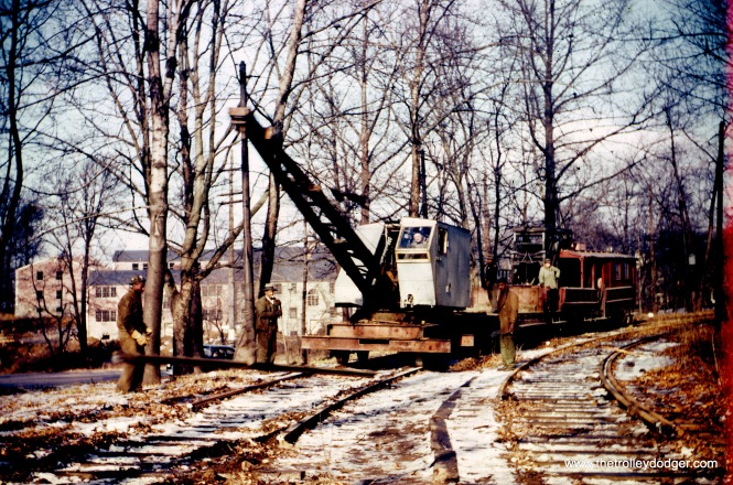 Dismantling the line in late 1946 or early 1947.
