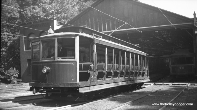 Car 30 at the car house on September 17, 1939.