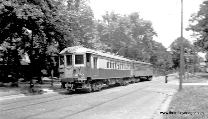 North Shore Line 250 in Wilmette on July 11, 1939.