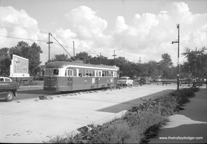 CTA 4035 on Cottage Grove in 1953. Not sure of the exact location. (Walter Hulseweder Photo)