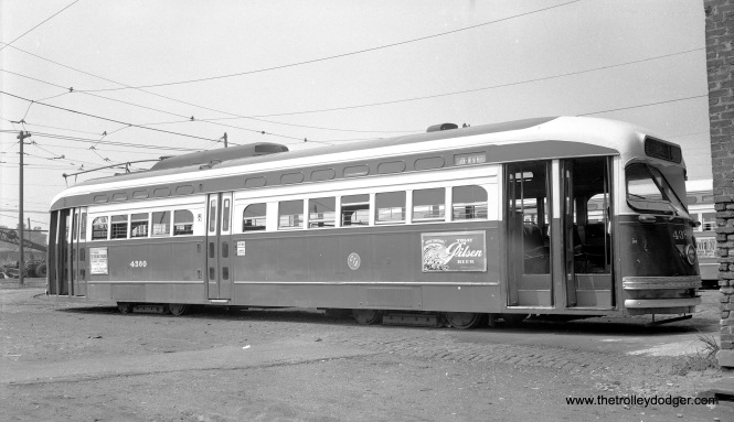 CTA 4380, signed for Clark-Wentworth, on June 30, 1955. This may be South Shops.