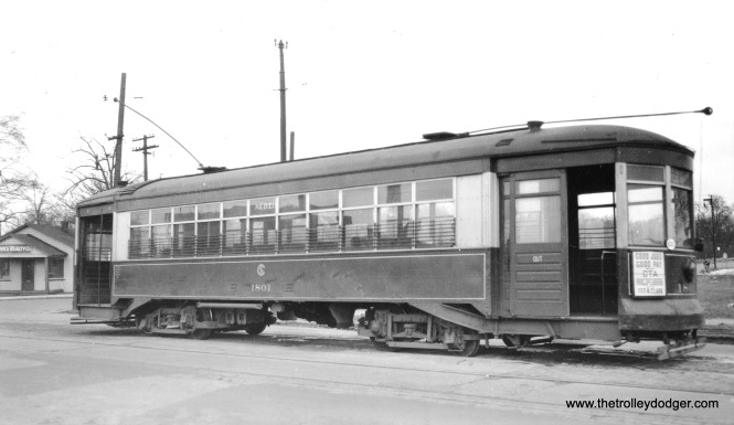CTA 1801 at Kedzie and 67th Streets on March 28, 1948.