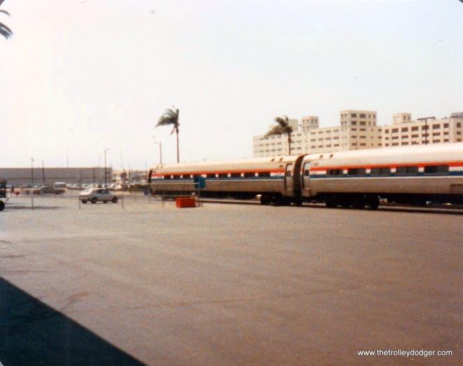 Arrival at San Diego. looking toward the rear of the train.