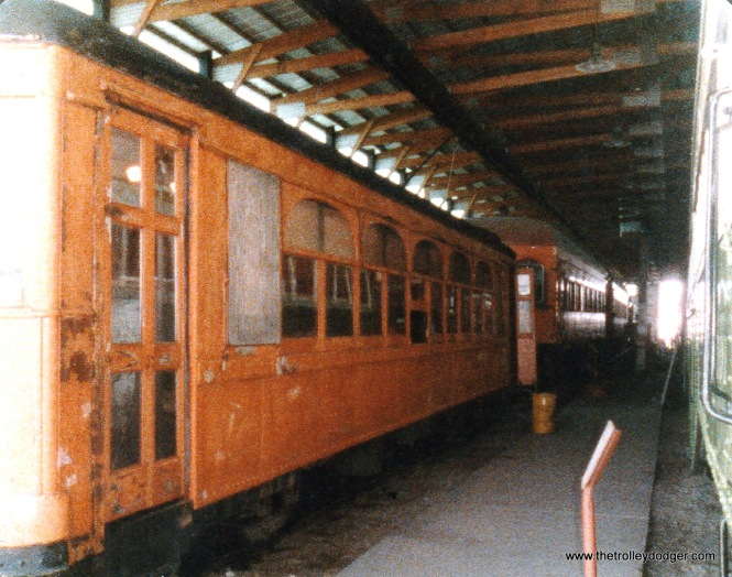 Aurora Elgin & Fox River Electric 306 at the Illinois Railway Museum in the 1980s or 90s.