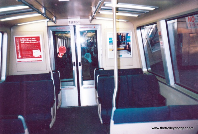 C car interior. Note the blue colors, versus brown for the Rohr-built cars.