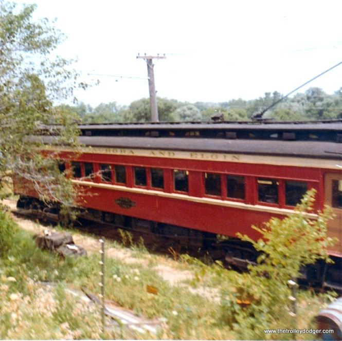 CA&E 300-series car at the RELIC museum in August 1970.
