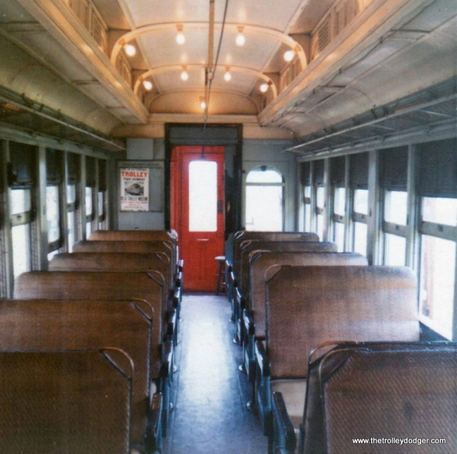 The interior of CA&E car 20 in August 1970.