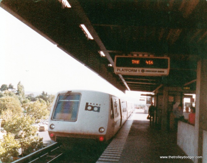 Concord station, close-up of BART train.