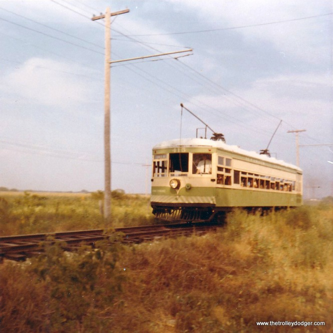 Illinois Terminal 415 at speed on the IRM main line in August 1970.