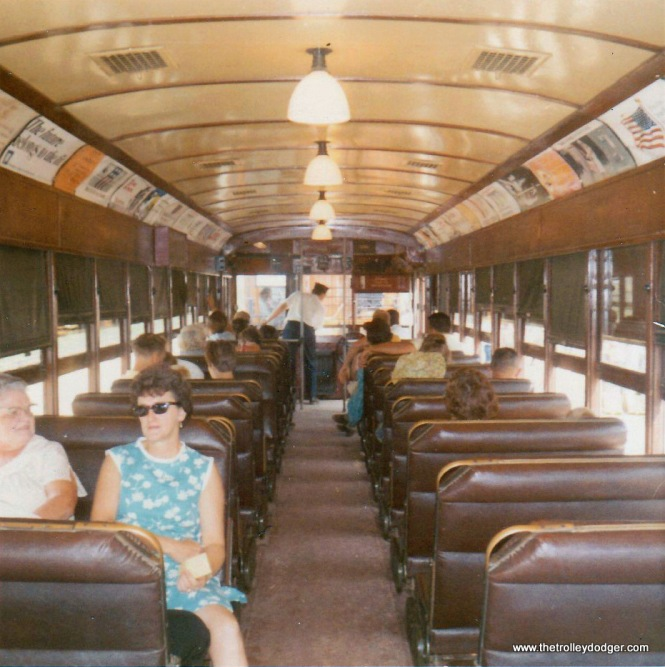 The interior of Illinois Terminal 415 at IRM in August 1970.