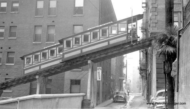 This view of the Angel's Flight Railway looks more like the early 1950s.