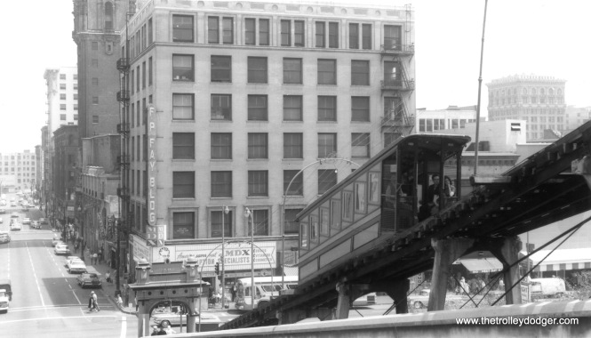 Angel's Flight in the mid-1960s.
