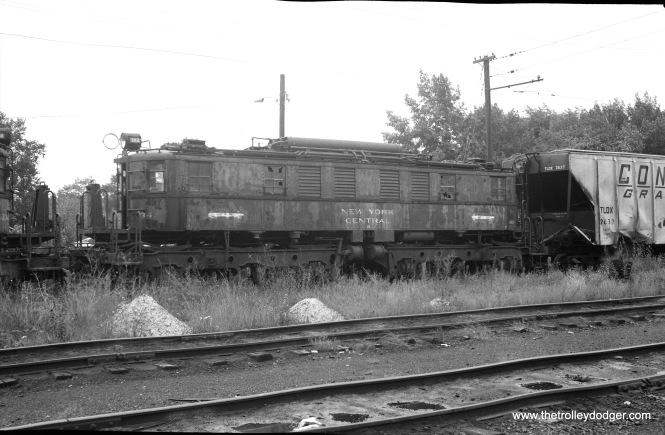 "Don's Rail Photos says, ""707 was built by Alco-General Electric in June 1931, #68270, 11193, as NYC 1242, Class R-2. It was renumbered 342 in August 1936. In July 1967 it was rebuilt as CSS&SB 707. It was scrapped in April 1976."" Here, we see it prior to the 1967 rebuilding."