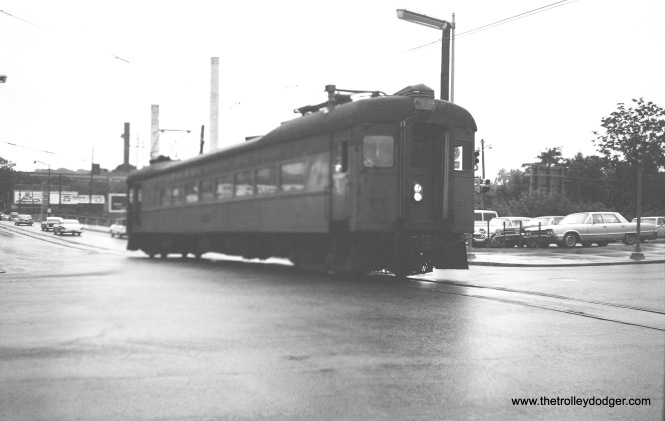 South Shore Line 111 in the mid-1960s. Not sure if this is in Michigan City or South Bend.