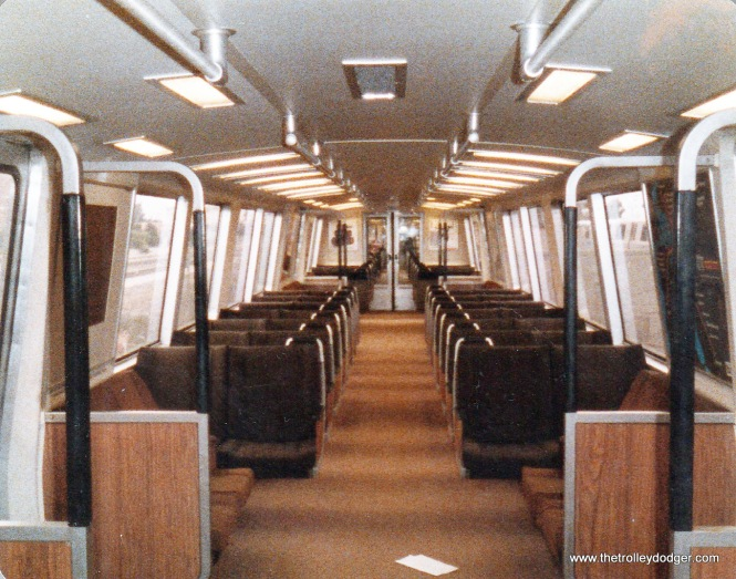 The interior of a Rohr-built BART car.