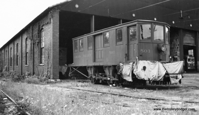 Altoona & Logan Valley Railway sweeper 50a in Altoona.