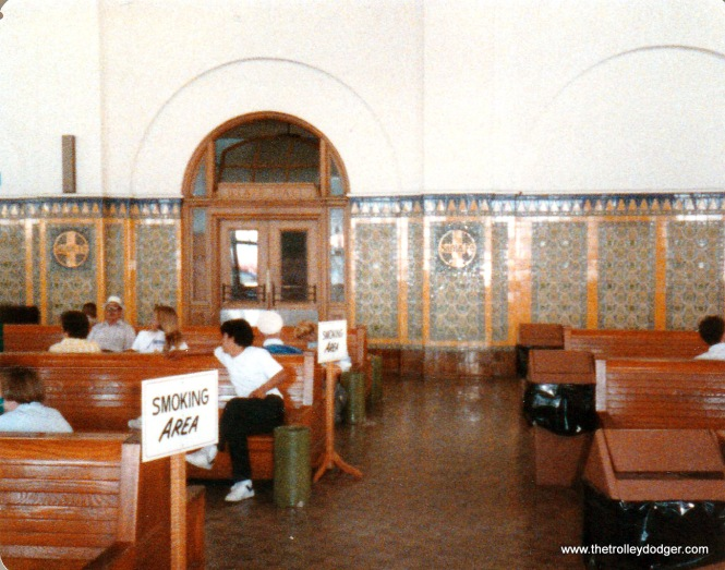 Look at that beautiful tile work, including the Santa Fe logo on the wall.