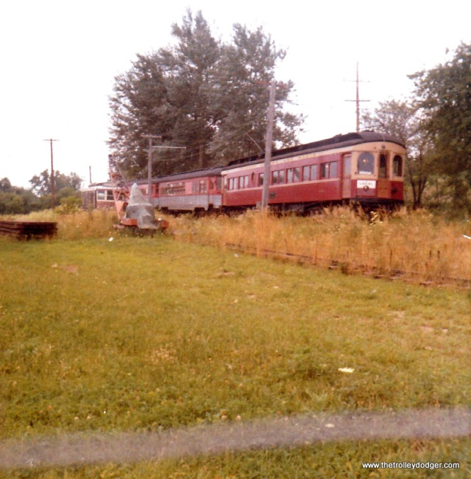 North Shore Line tavern-lounge car 415 at the RELIC museum in August 1970.