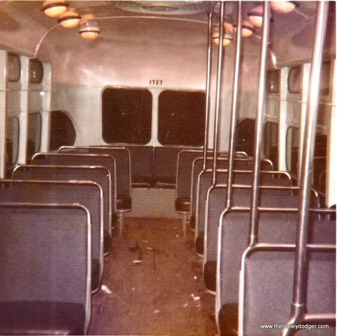 The interior of PA Transit 1727. (Bill Beaudot Photo)