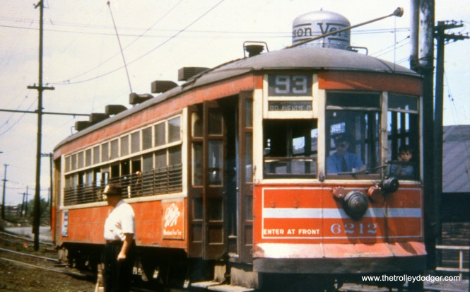 Chicago Surface Lines 6212 on 93rd near Blackstone on August 13, 1947.