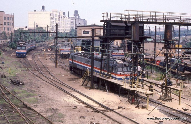 Photo 11. An eclectic group of Amtrak electric motive power at Sunnyside yard, Queens, NY. 6-20-87.