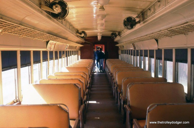 Photo 13. Interior of one of the refurbished Ex-DL&W MU cars.