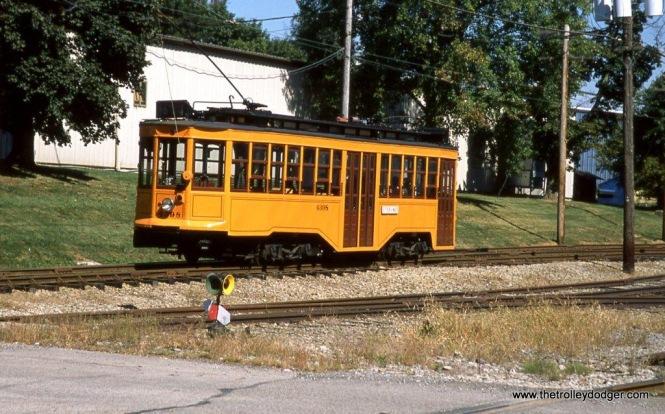 Pittsburgh Railways DE City Low-floor car #4398 at Washington, PA. 9-27-13.