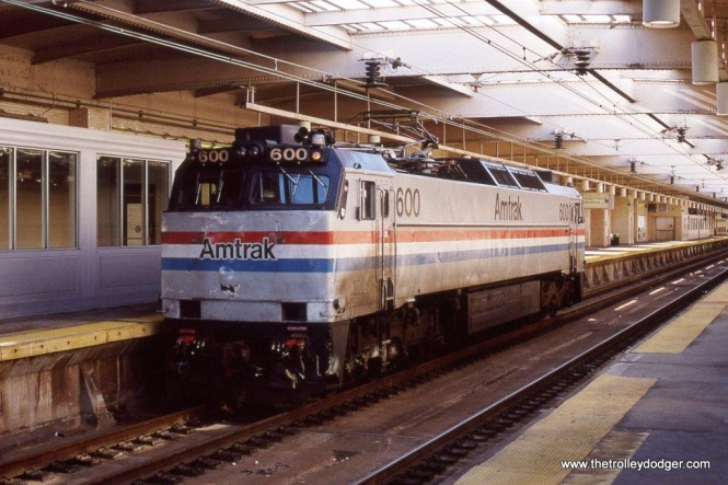 Photo 14. Amtrak E-60MA #600 on Track A at Newark, NJ Penn Station.
