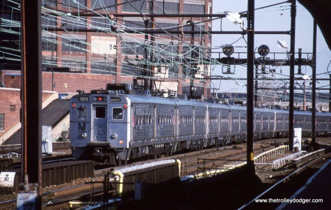Photo 16. A train of NJT Arrow III cars at Harrison, NJ in 2002.
