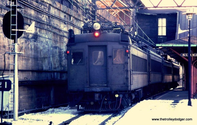 Photo 16. Another view of the Ex-DL&W MUs on a Gladstone Branch train at Summit, NJ. 1-25-81.