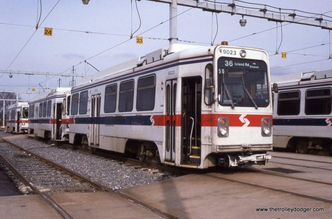 SEPTA Kawasaki car #9023 at Philadelphia, PA.
