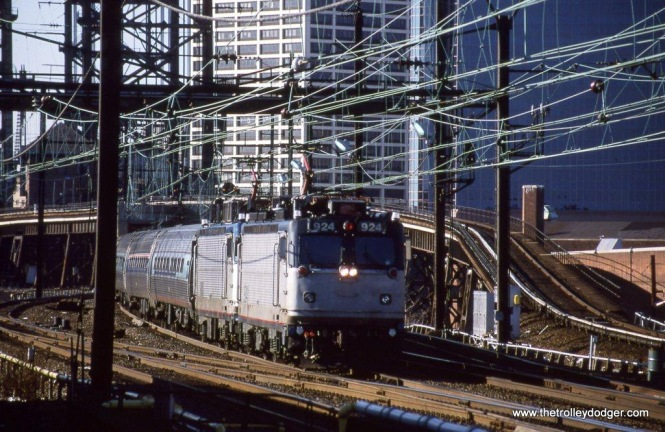Photo 25. Amtrak AEM-7s 924 & 940 power Keystone Train 644 at Harrison NJ in 2002.