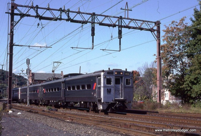 Photo 3. NJT Arrow II MU #1265 leads train #964 as it departs Dover.