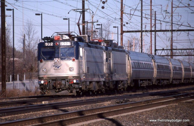 Photo 30. Amtrak #AEM-7 932 at Cornwall Heights, PA. January 10, 2010.