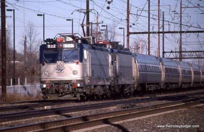 Photo 30. Amtrak #AEM-7 932 at Cornwall Heights, PA. January 10, 2010.