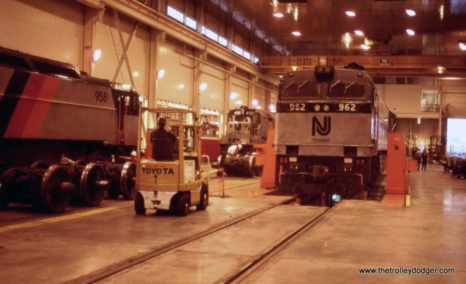 Photo 7. NJT E-60s in Building 1 of the Meadows Maintenance Complex at Kearny, NJ.