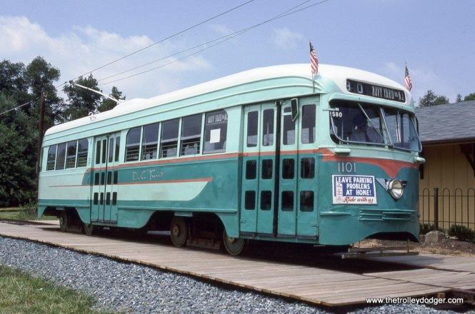 DC Transit PCC #1101, 8-5-89.