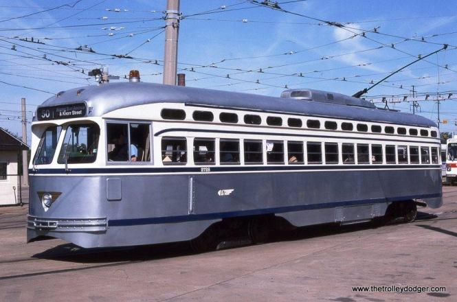 SEPTA PCC #2728 in Philadelphia Transportation Company colors at Philadelphia, PA in 1995.