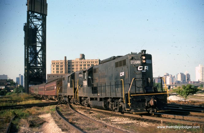 CR 7506 on a Valparaiso local, September 2, 1976. (Joseph Piersen Photo)